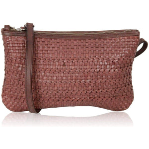 Easy By Martina Caponi Tan Woven Leather Messenger Bag Opherty & Ciocci
