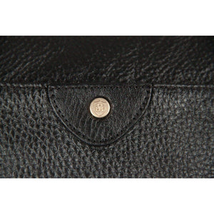 Massimo Dutti Black Leather Tote Handbag Opherty & Ciocci