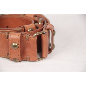Massimo Dutti Tan Leather Belt Size 80 Opherty & Ciocci