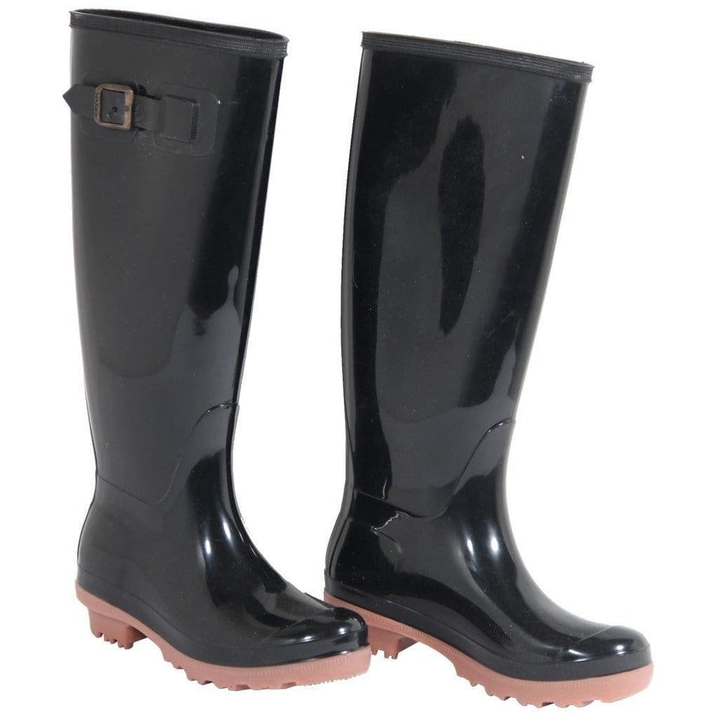 Max & Co Italian Black Rubber Rain Boots Shoes Size 35 It Opherty & Ciocci
