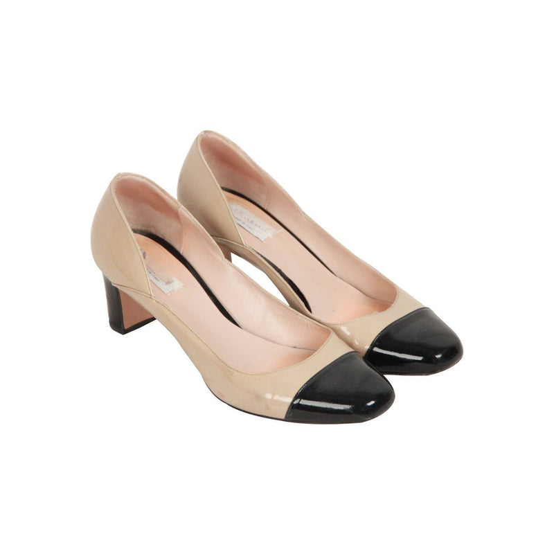Max Mara Bicolor Patent Leather Pumps Heels Shoes Size 37 Opherty & Ciocci