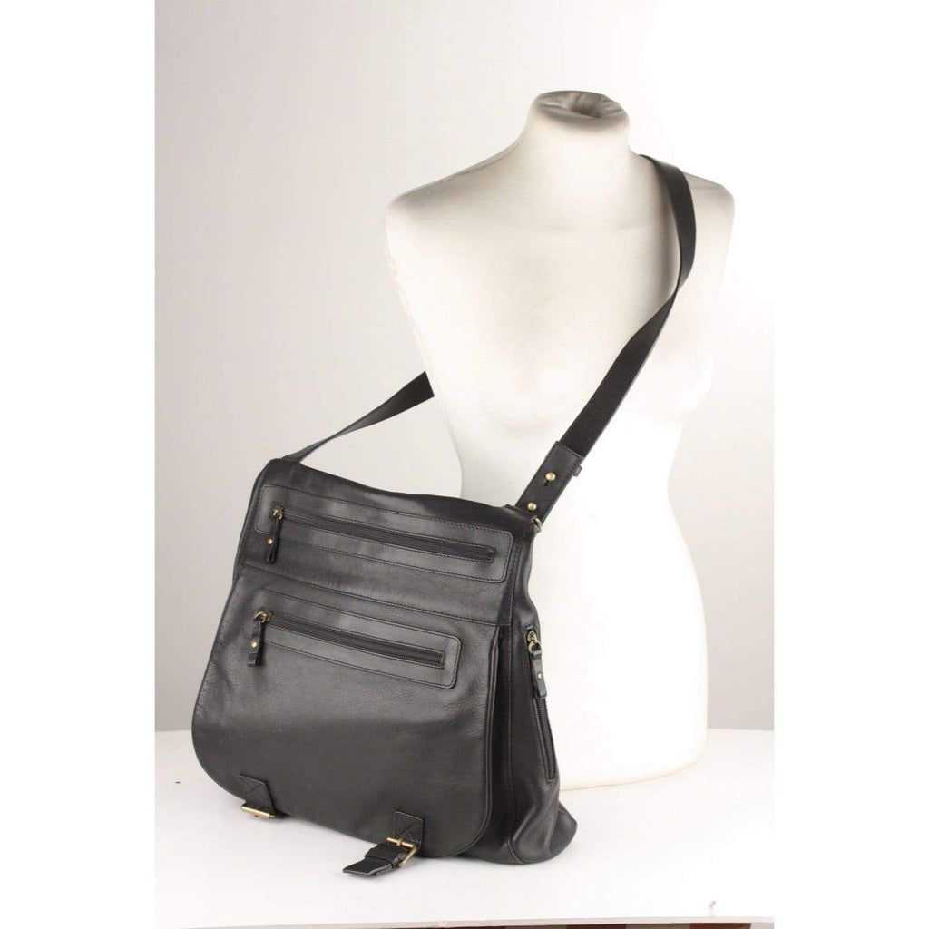 Black Leather Messenger Bag Opherty & Ciocci