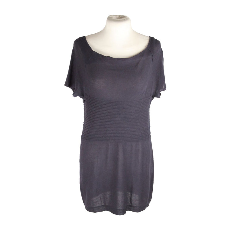MAX MARA BODYWEAR Blue LONG LINE SHIRT TOP Size S