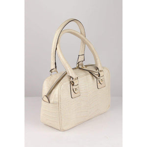 Embossed Croc Leather Satchel Opherty & Ciocci