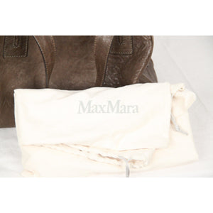 MAX MARA Miltary Green Leather EMMA BAG Satchel Bowler