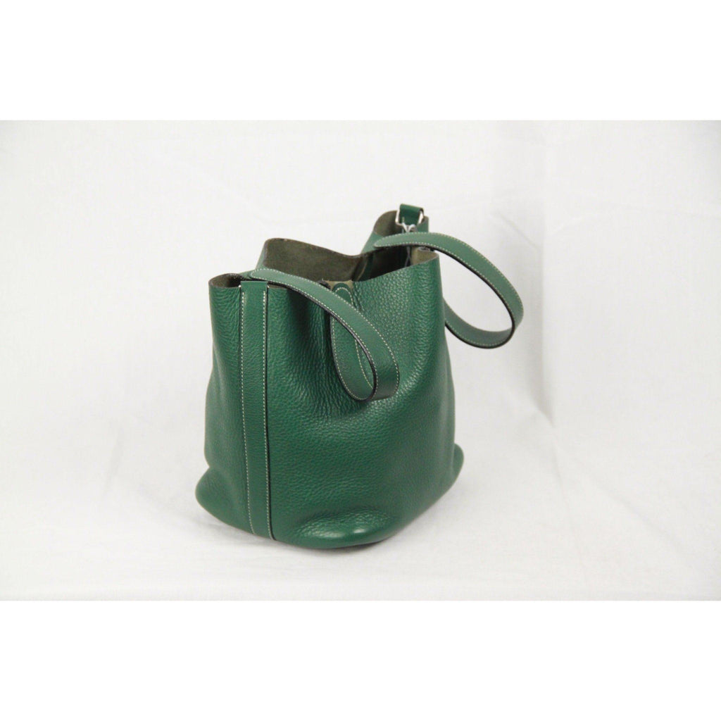 Mazzon Venezia Green Leather Bucket Bag Handbag Opherty & Ciocci