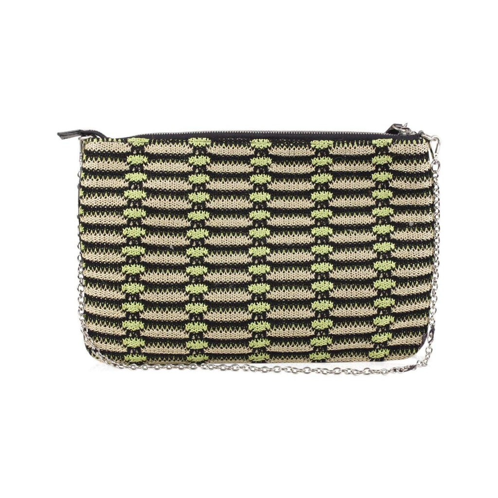 Metallic Crochet Knit Clutch Opherty & Ciocci