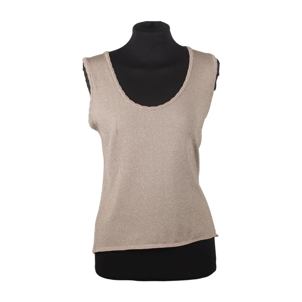 Metallic Knit Sleeveless Top Size 42 Opherty & Ciocci