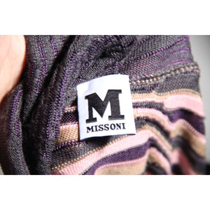Missoni Pink And Gray Wool Merinos Short Sleeve Jumper Sz 44 It Opherty & Ciocci