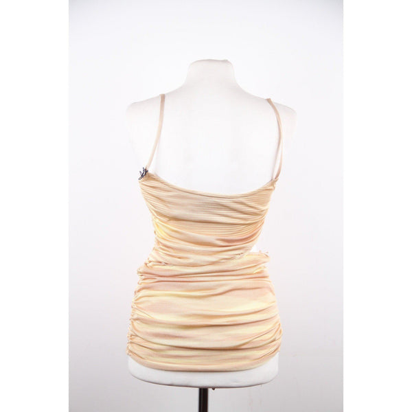 Missoni Yellow Light Weight Knit Draped Cami Top W/ Cut Out Size 38 Opherty & Ciocci