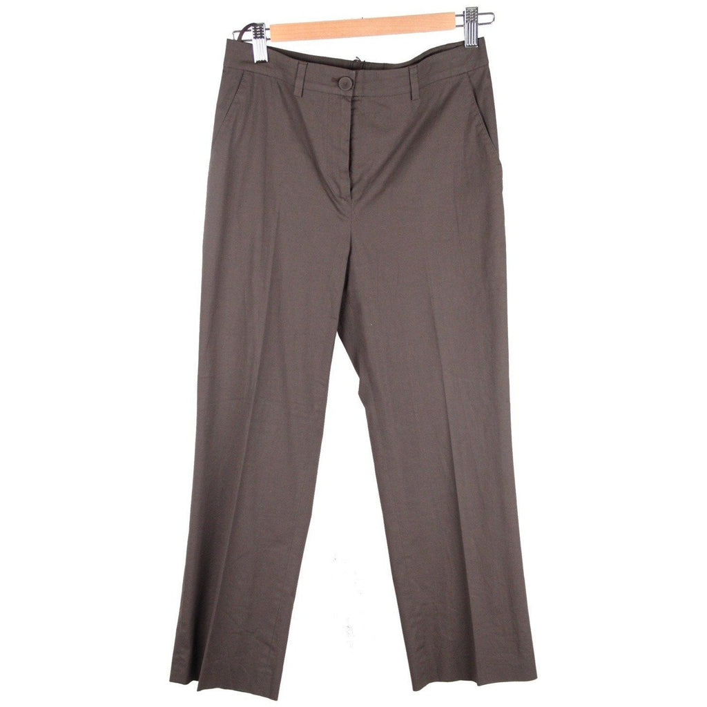 MIU MIU Brown Cotton WIDE LEG PANTS Trousers SIZE 40