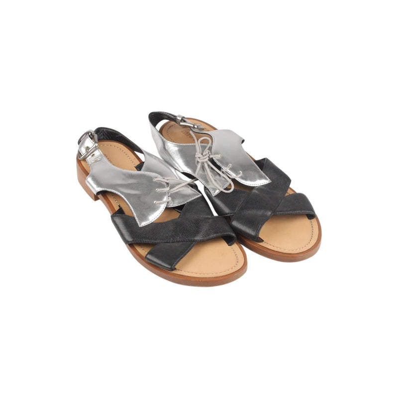 Flat Lace Up Sandals Shoes Opherty & Ciocci