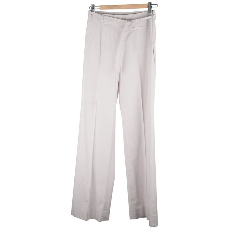 Miu Miu Light Gray Cotton Wide Leg Pants Trousers Size 40 Opherty & Ciocci