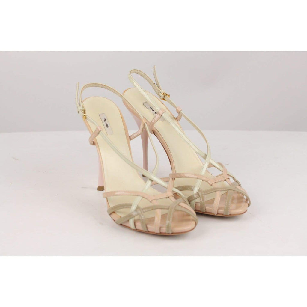 Patent Leather Strappy Sandals Pumps Size 38 Opherty & Ciocci