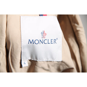 MONCLER Beige Tan Nylon & Cotton WINDBREAKER Light Weight JACKET SZ 4