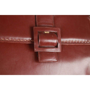 Montenapoleone Vintage Brown Leather Handbag Opherty & Ciocci