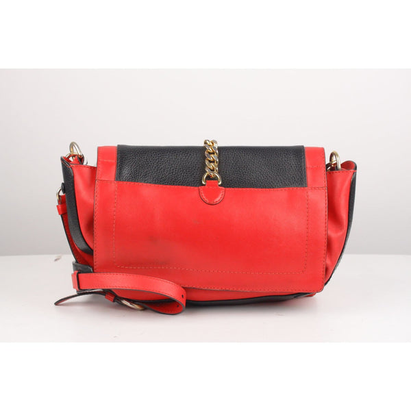 Bicolor Leather Shoulder Bag Opherty & Ciocci