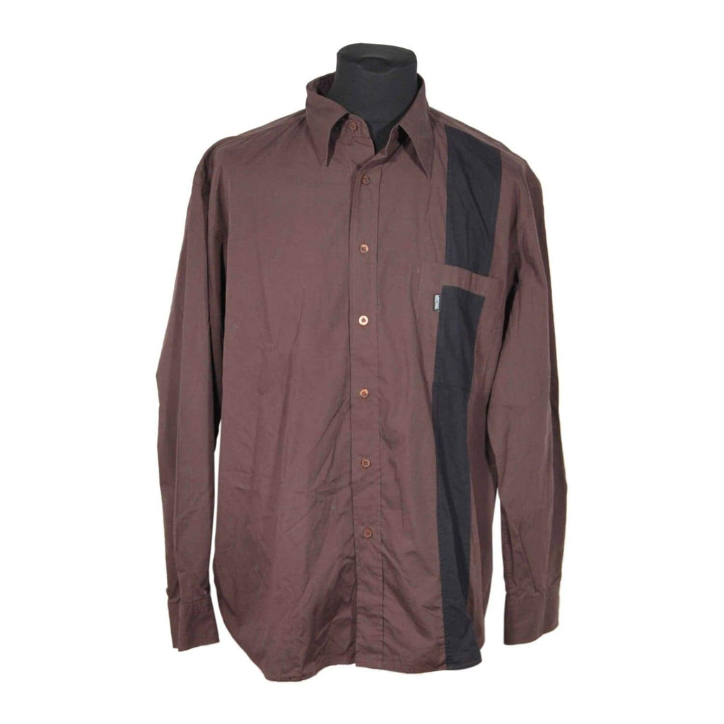 Brown And Black Cotton Large Shirt Opherty & Ciocci