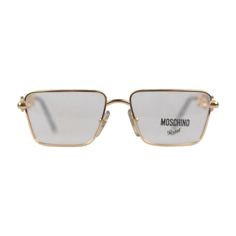 MOSCHINO by Persol Vintage Gold Metal Rectangular Frame M26 52mm NOS