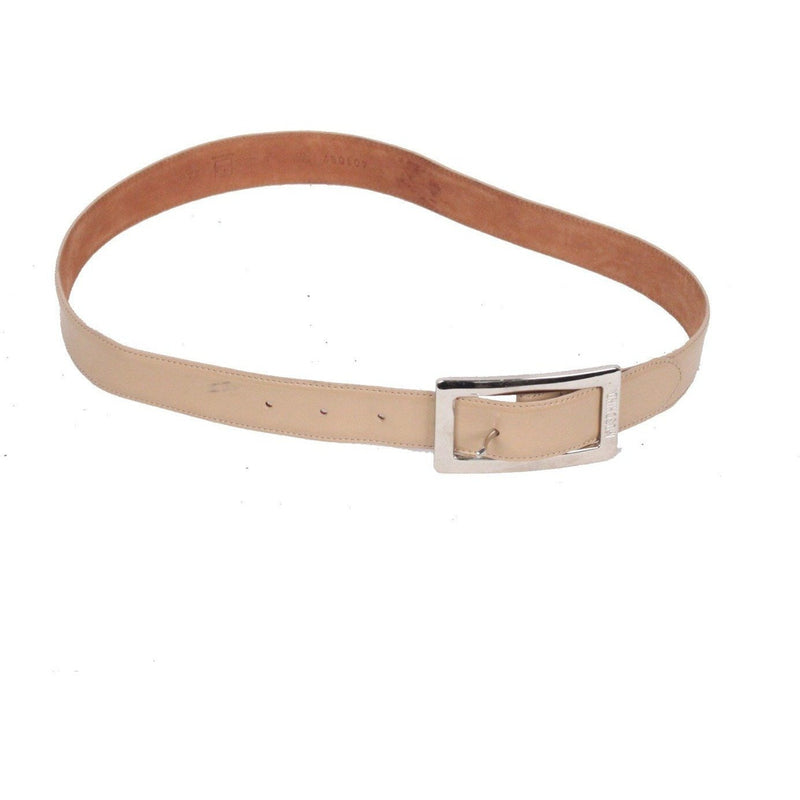 MOSCHINO REDWALL Vintage Beige Leather BELT Size 44