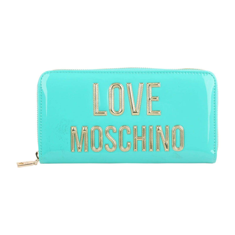 Turquoise Patent Eco Leather Wallet Opherty & Ciocci