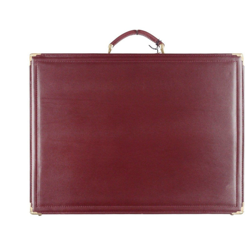 Nazareno Gabrielli Burgundy Leather Hard Side Briefcase Attache Work Bag Opherty & Ciocci