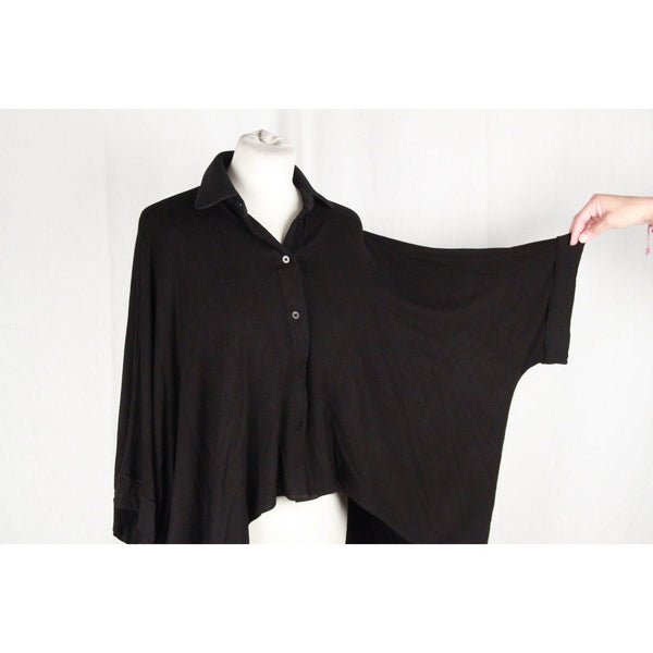 On And On Black Dolmain Sleeves Shirt Small Opherty & Ciocci