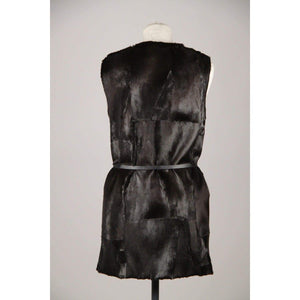 Anna Rock Milano Black Pony Hair Fur Gilet Vest Sleeveless Jacket Opherty & Ciocci