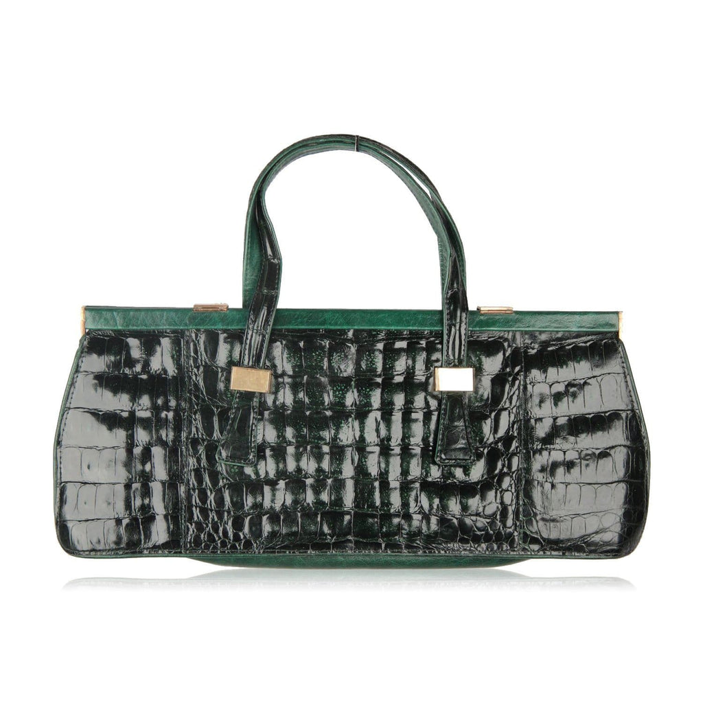 Crocodile Leather Top Handle Bag Handbag Opherty & Ciocci