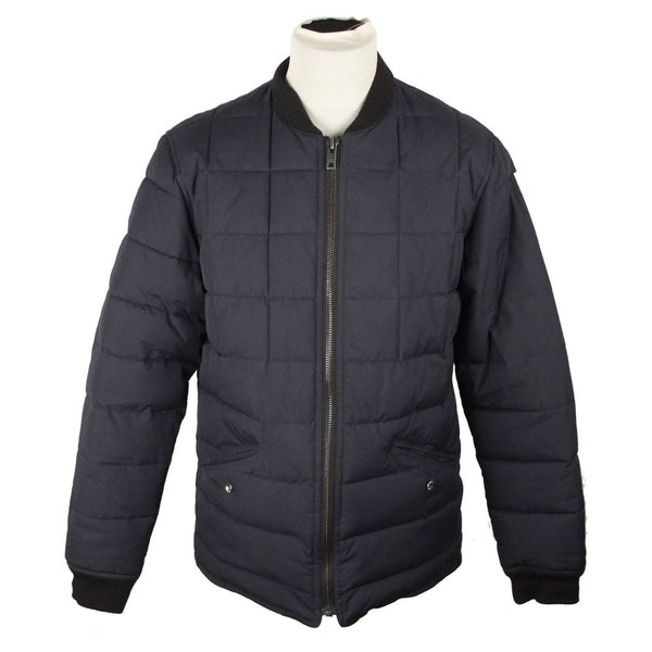 Elvine Navy Blue Quilted Padded Jacket Size L Opherty & Ciocci