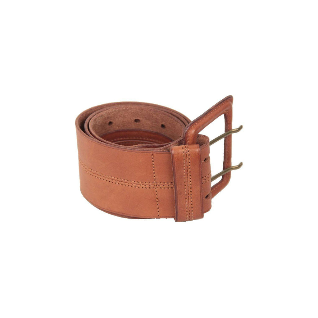 Felisi Vintage Tan Leather Wide Belt Size 75 Opherty & Ciocci