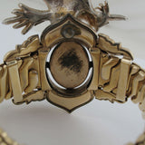 Speidel Vintage 1940S Gold Metal Expandable Bracelet Bangle With Bird Opherty & Ciocci