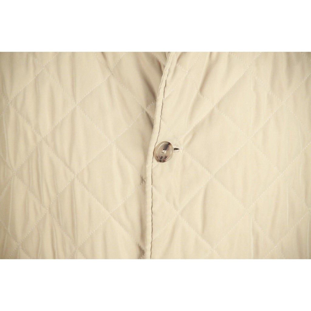 Valstar Milano Beige Microfiber Quilted Husky Barn Jacket Size 48 Opherty & Ciocci