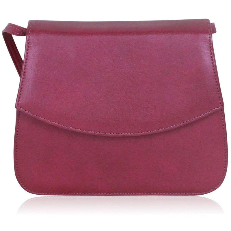 Pancaldi Vintage Purple Leather Look Messenger Bag Opherty & Ciocci