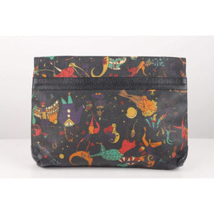 Black Magic Circus Canvas Clutch Opherty & Ciocci