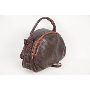 Brown Leather Handbag Shoulder Bag Opherty & Ciocci