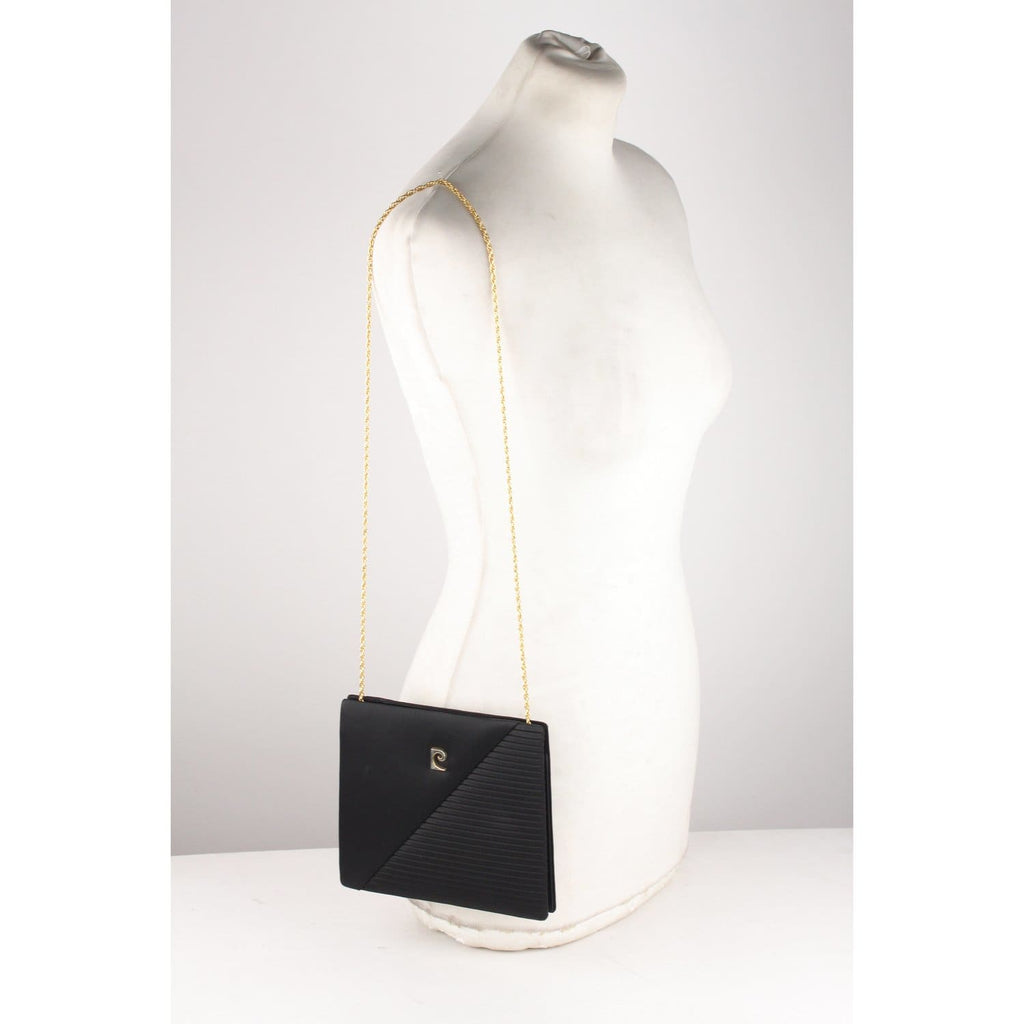 Black Satin Evening Bag Purse Opherty & Ciocci