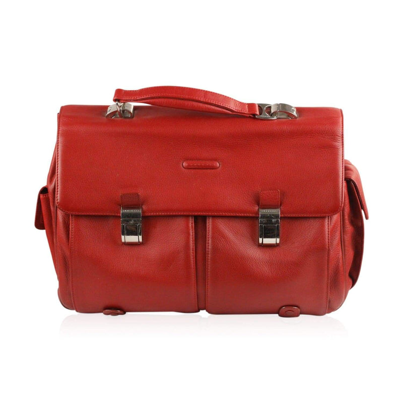 Briefcase Red Work Bag Mod. Blue Square Opherty & Ciocci