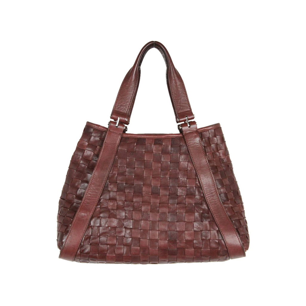 POLLINI Brown WOVEN Leather TOTE Bag