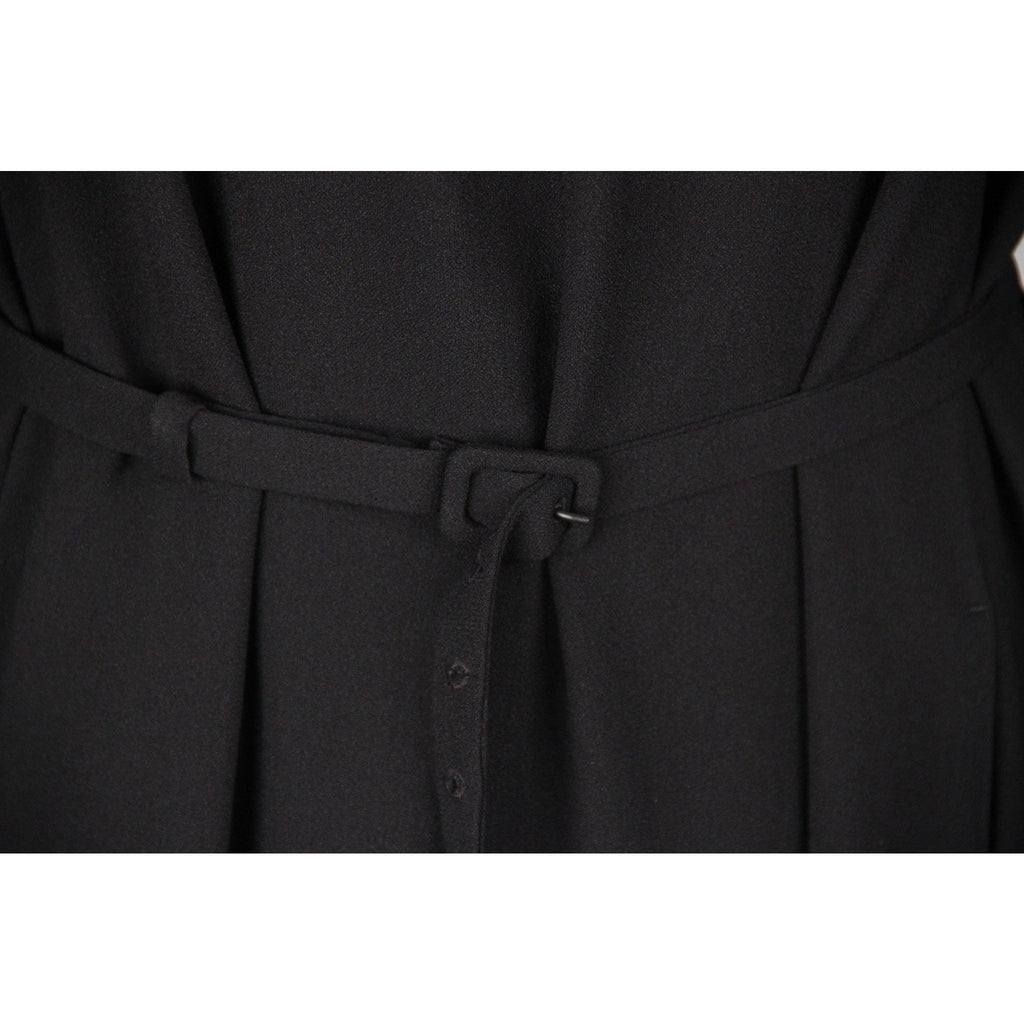 PRADA Black LONG SLEEVE DRESS w/ Belt SIZE 42