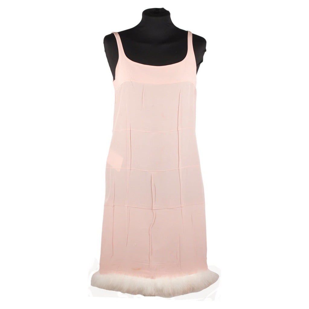Cami Dress With Feather Trimmed Hem Opherty & Ciocci