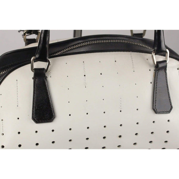 Perforated Bowling Bag Handbag Opherty & Ciocci
