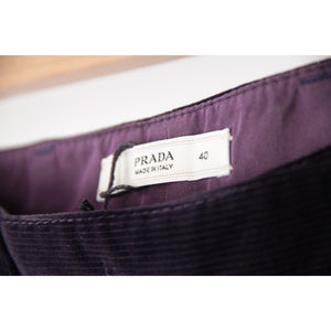 PRADA Purple Corduroy 5 POCKET Style PANTS Trousers SIZE 40 - OPHERTYCIOCCI