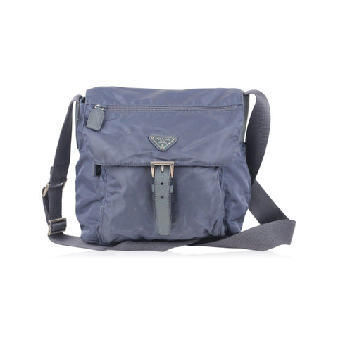 BREE Blue Leather NOLA 2 Crossbody Messenger bag Handbag