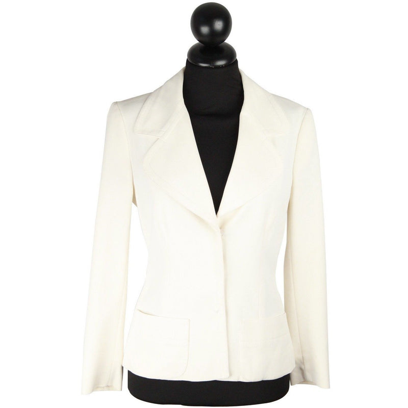 PRADA White BLAZER Single Breasted Womens Mint Jacket SIZE 38