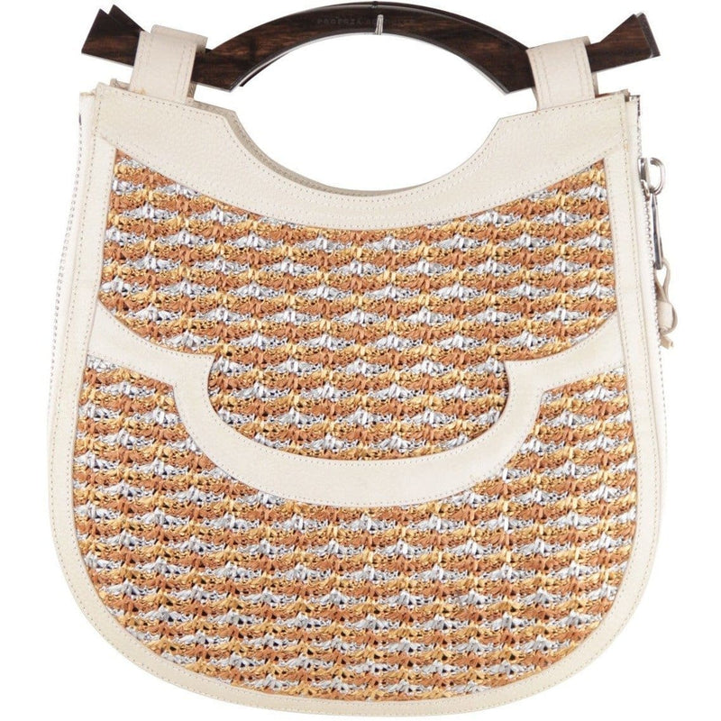Proenza Schouler Beige Leather & Woven Cord Handbag Opherty & Ciocci
