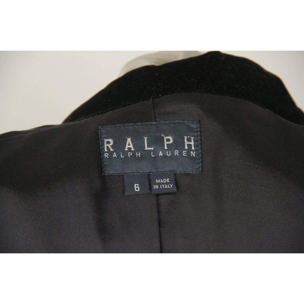 Ralph Lauren Black Wool Blend Blazer Jacket Size 6 Opherty & Ciocci