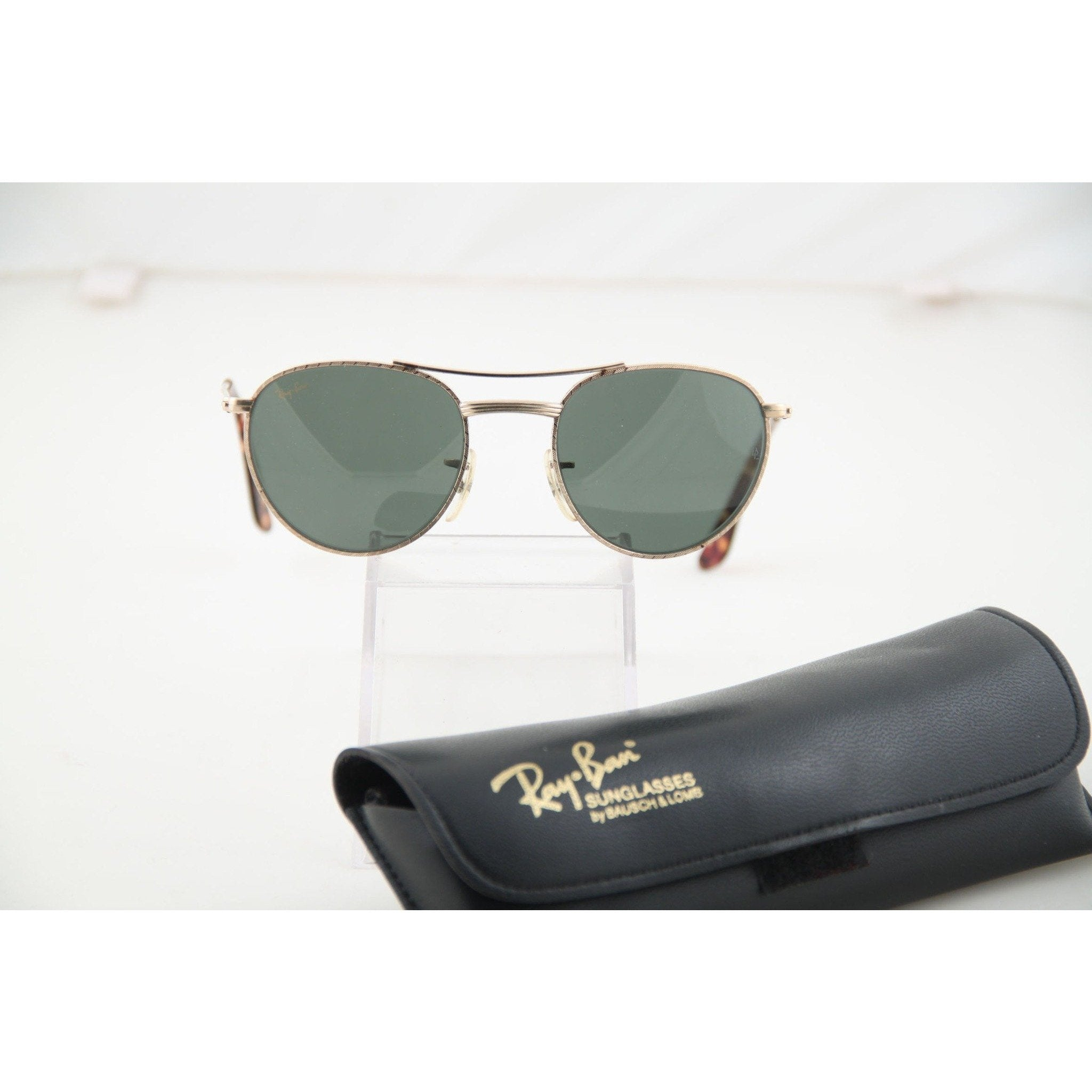 5e162f45ed ... best price ray ban bl vintage sunglasses g 15 lens w1754 gold metal  eyewear w case