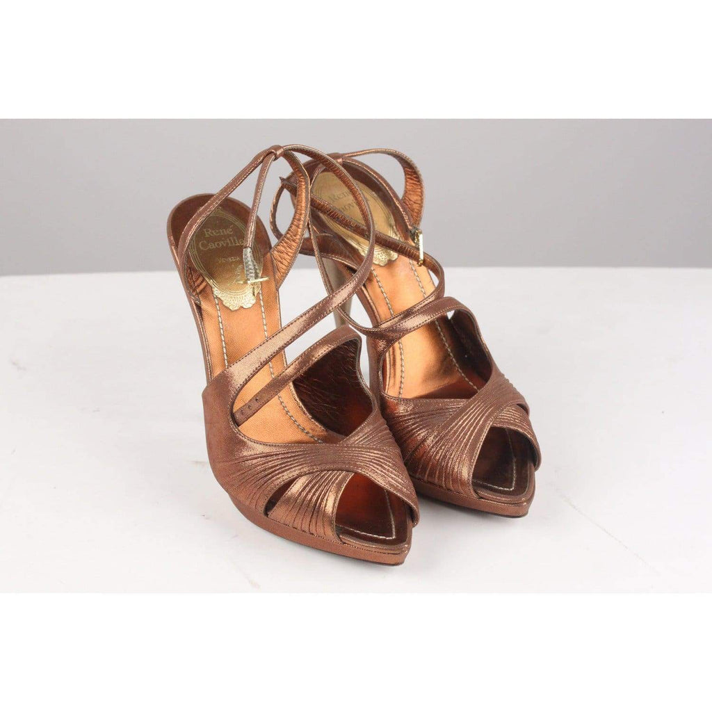 Bronze Sandals Heels Shoes Pumps Opherty & Ciocci