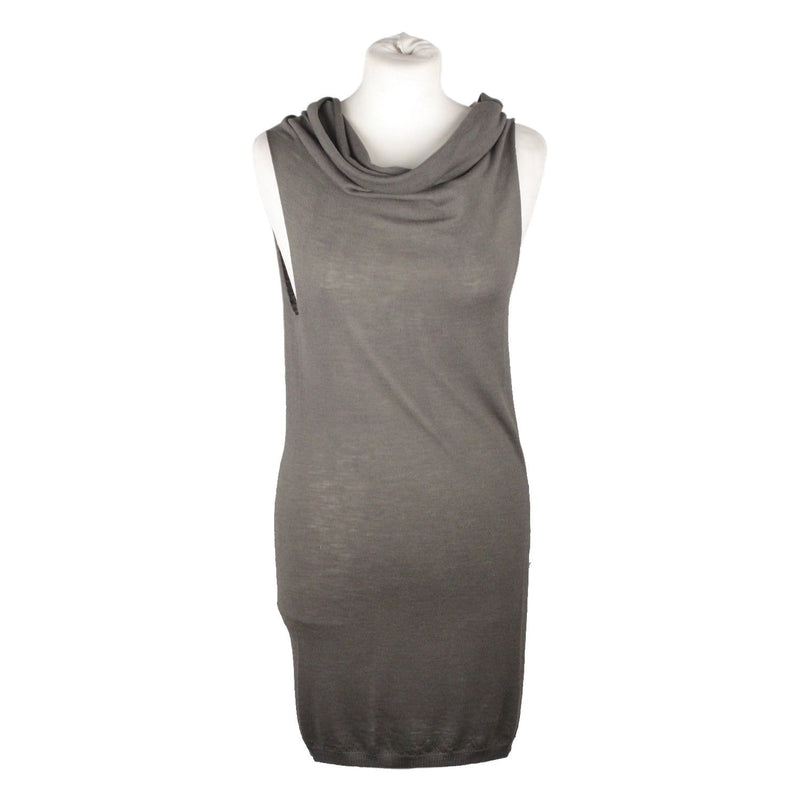 Gray Light Weight Knit Sleeveless Jumper Opherty & Ciocci